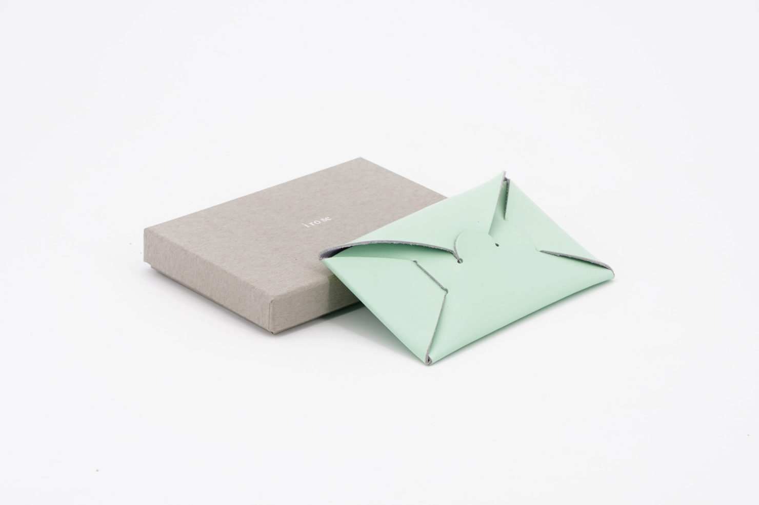 SEAMLESS CARD CASE MINT I ROSE