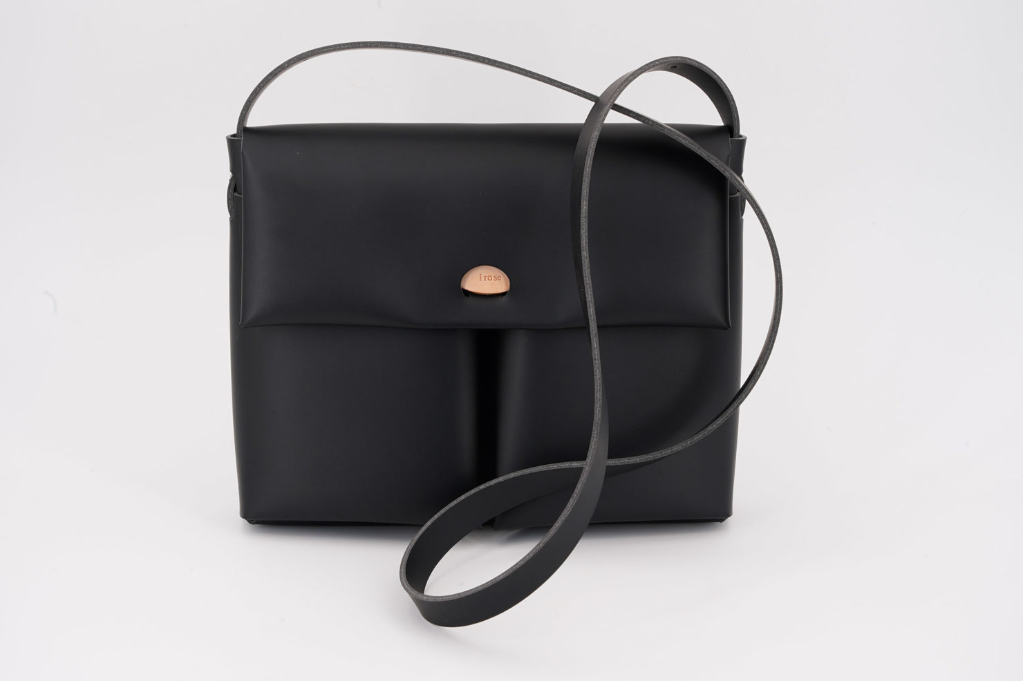 SEAMLESS SHOULDER BAG BLACK I ROSE