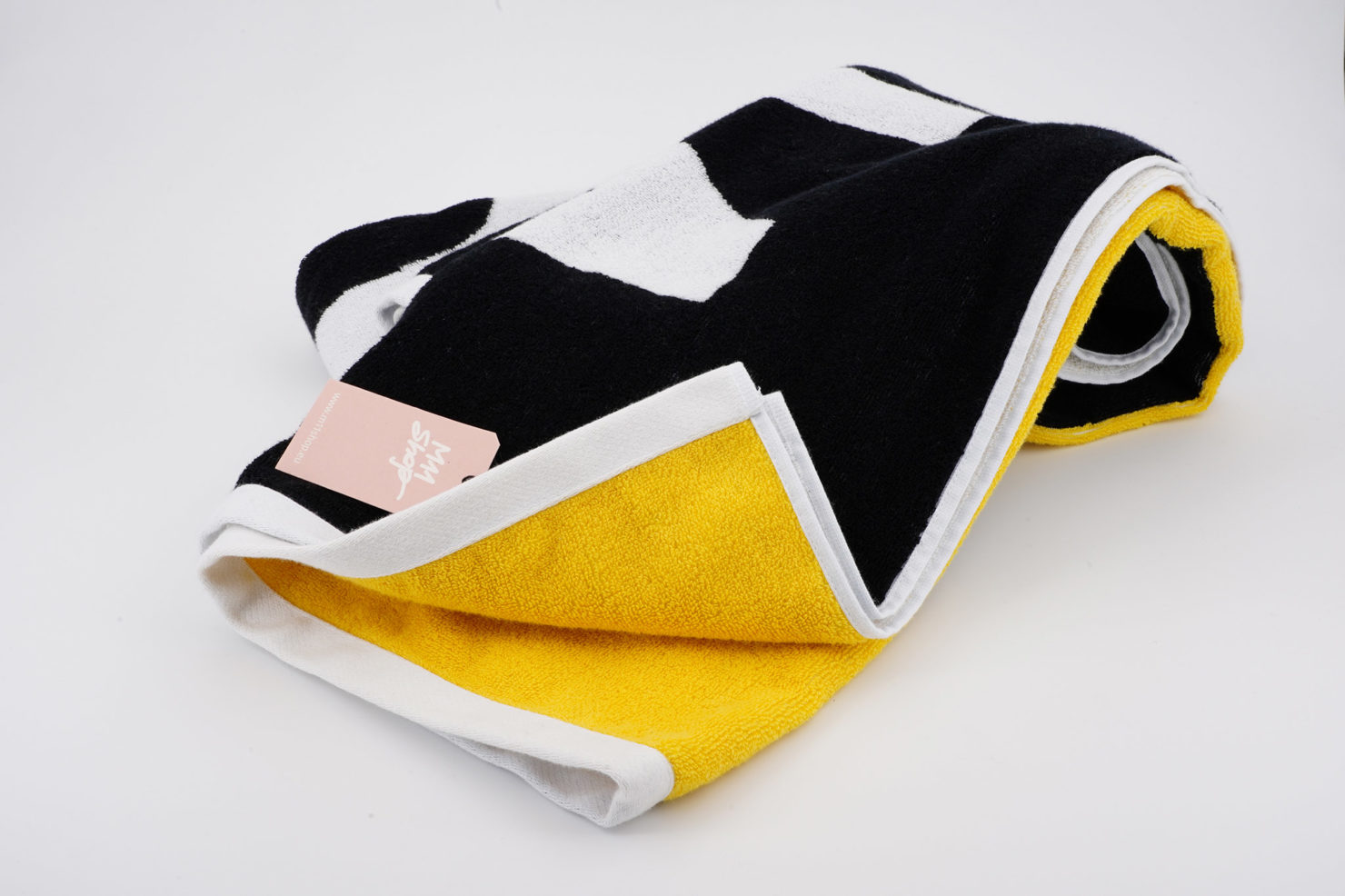 BEACH TOWEL DUNE NUDE YELLOW-BLACK U RON DORFF-STOCKHOLM SPORTS