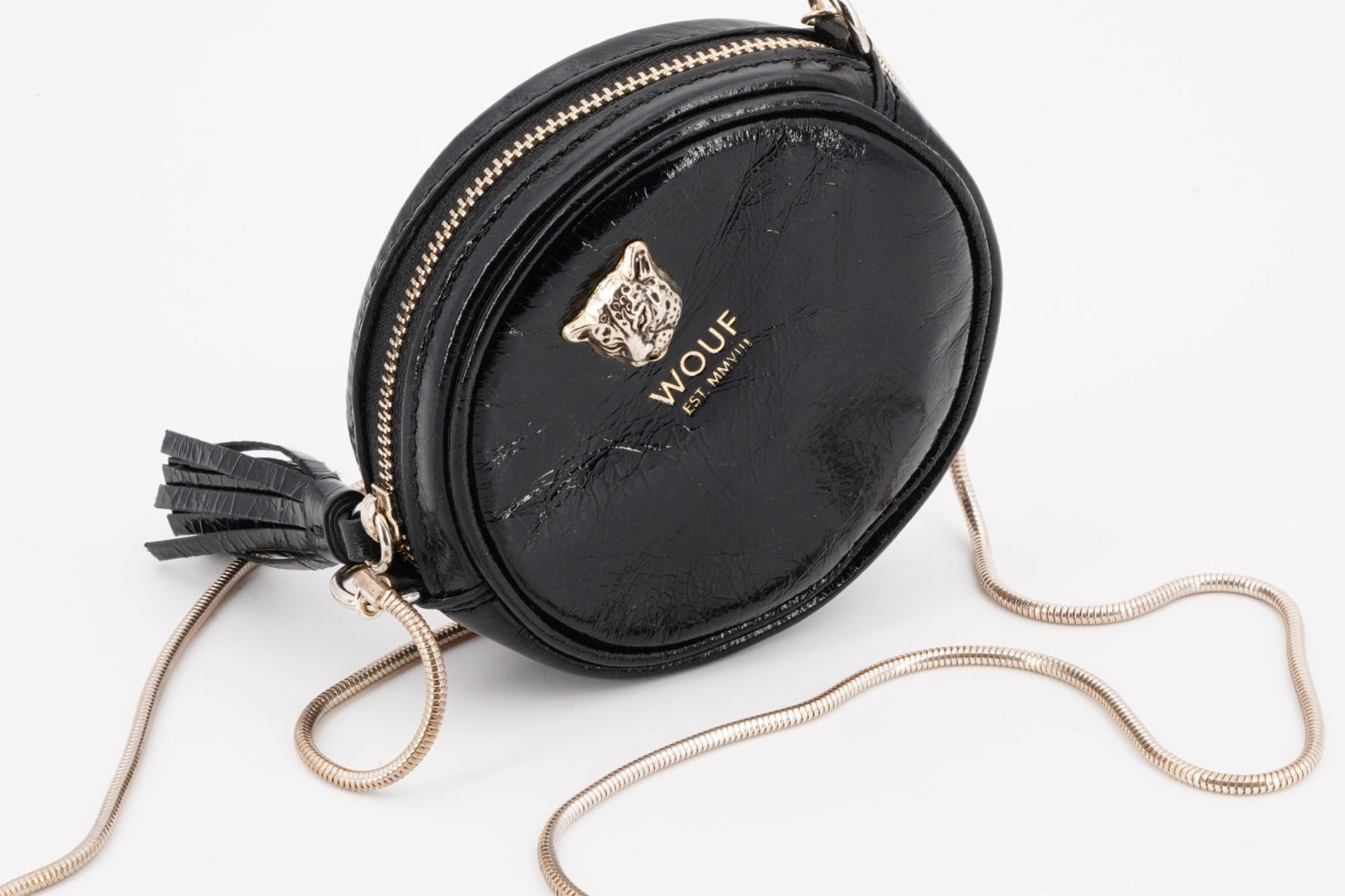 BLACK TIGER CIRCLE MINI BAG - WOUF