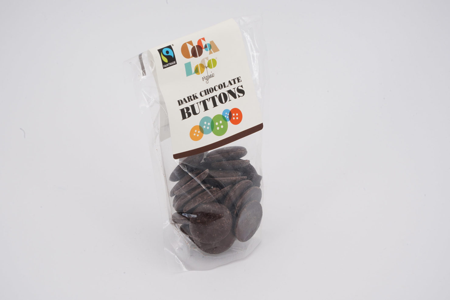 CHOCOLATE BUTTONS 73% DARK 100 GR COCOALOCO