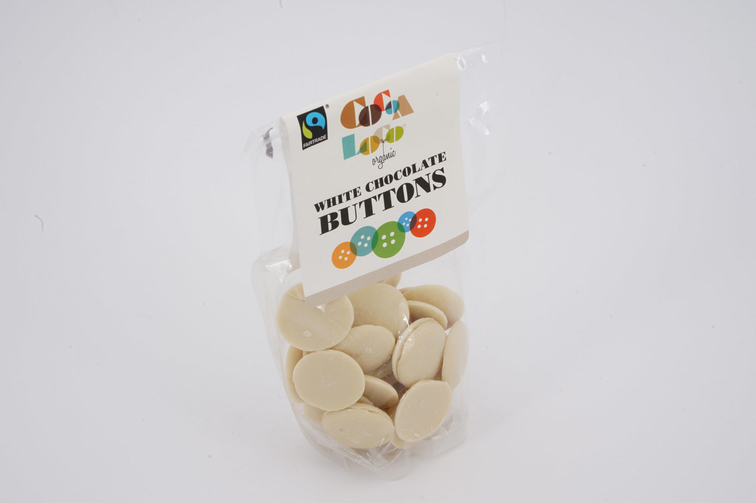 CHOCOLATE BUTTONS WHITE 100 GR COCOALOCO