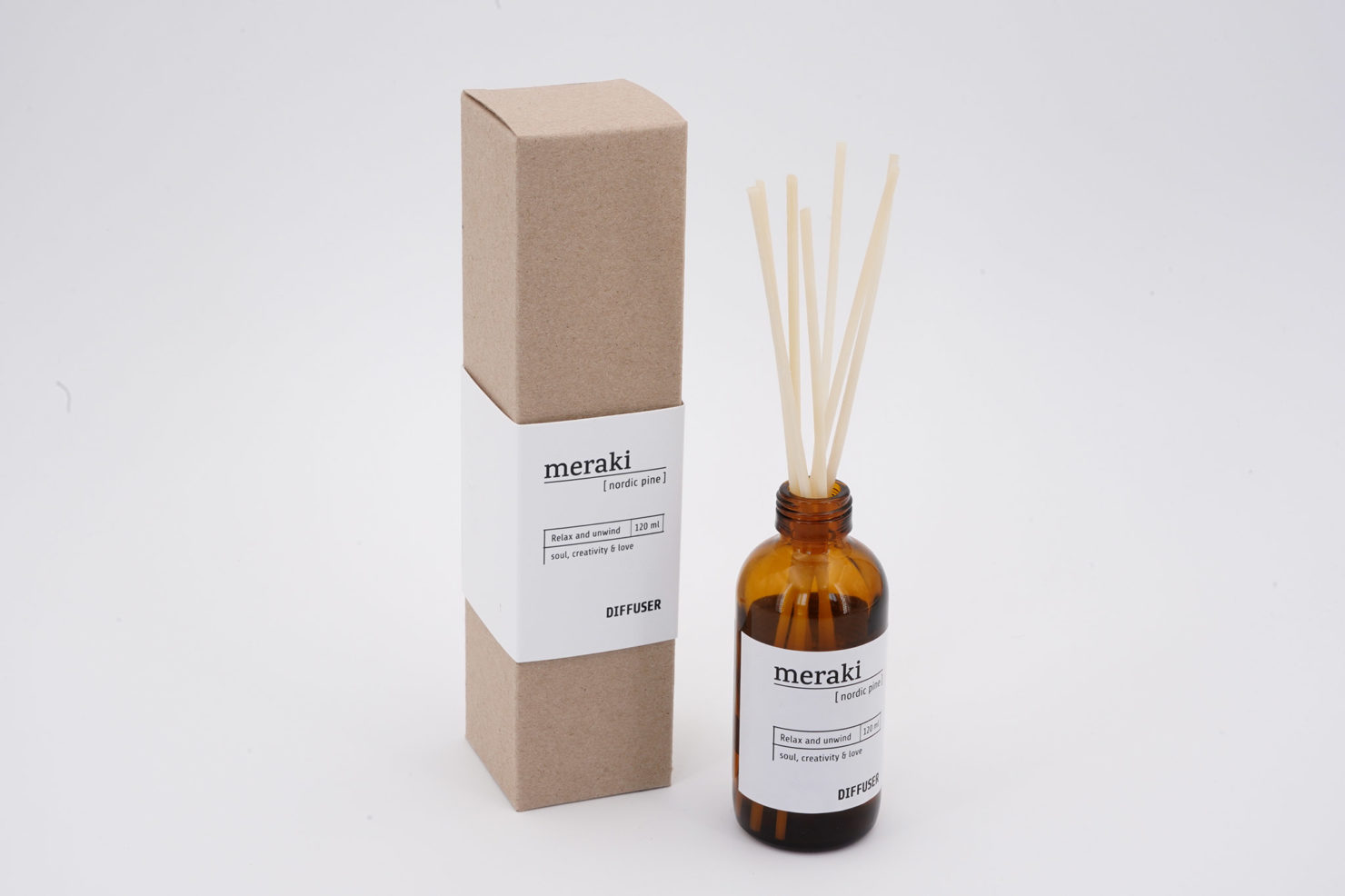 DIFFUSER 7 STICKS NORDIC PINE 120 ML MERAKI