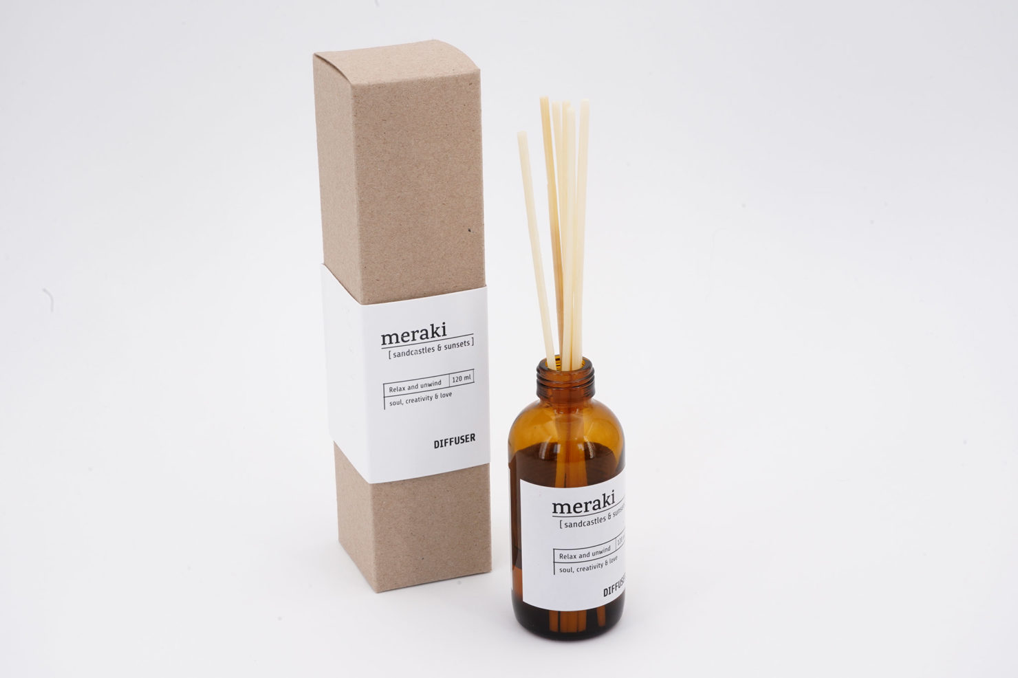 DIFFUSER 7 STICKS SANDCASTLES E SUNSETS 120 ML MERAKI