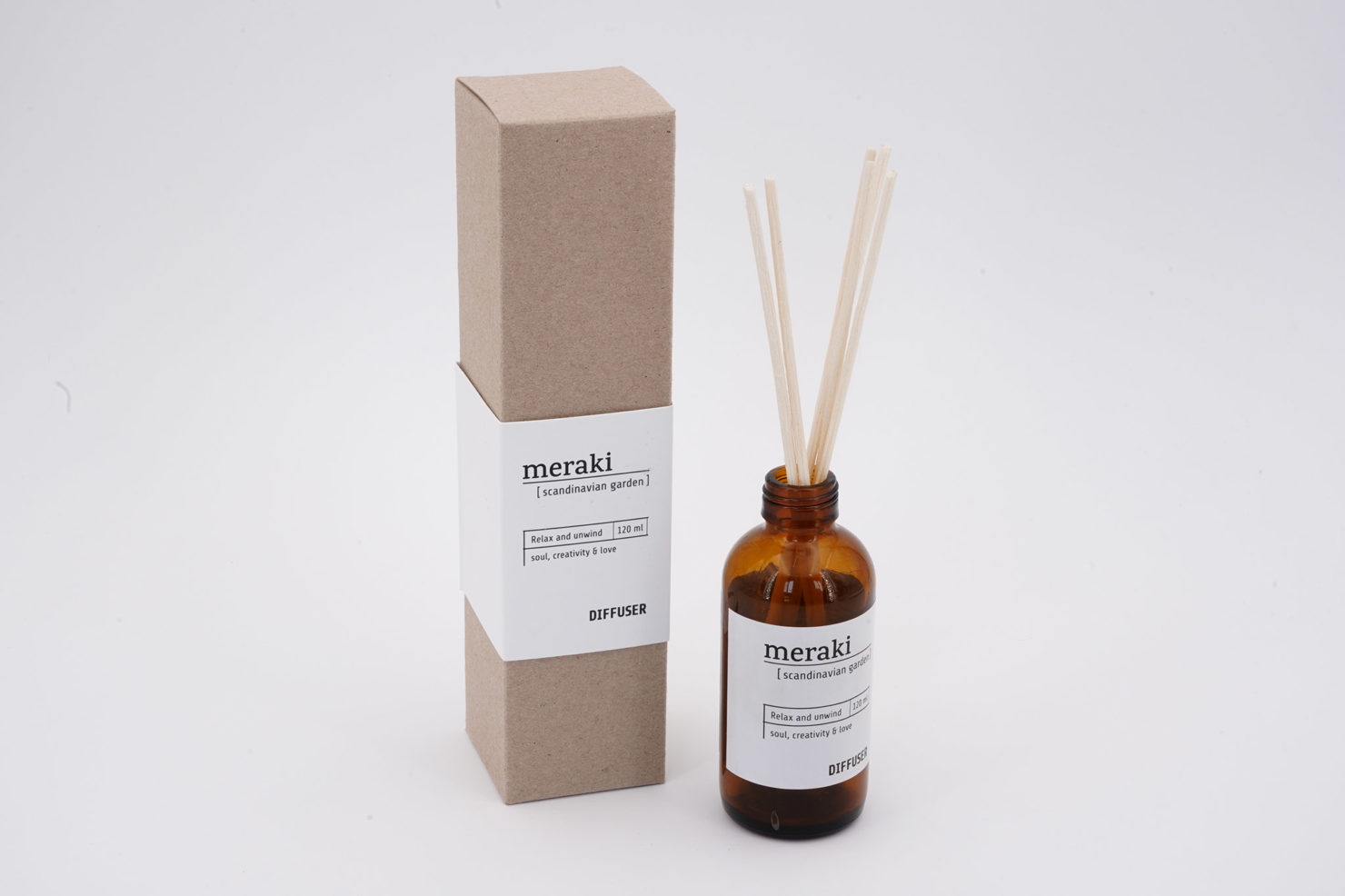 DIFFUSER 7 STICKS SCANDINAVIAN GARDEN 120 ML MERAKI