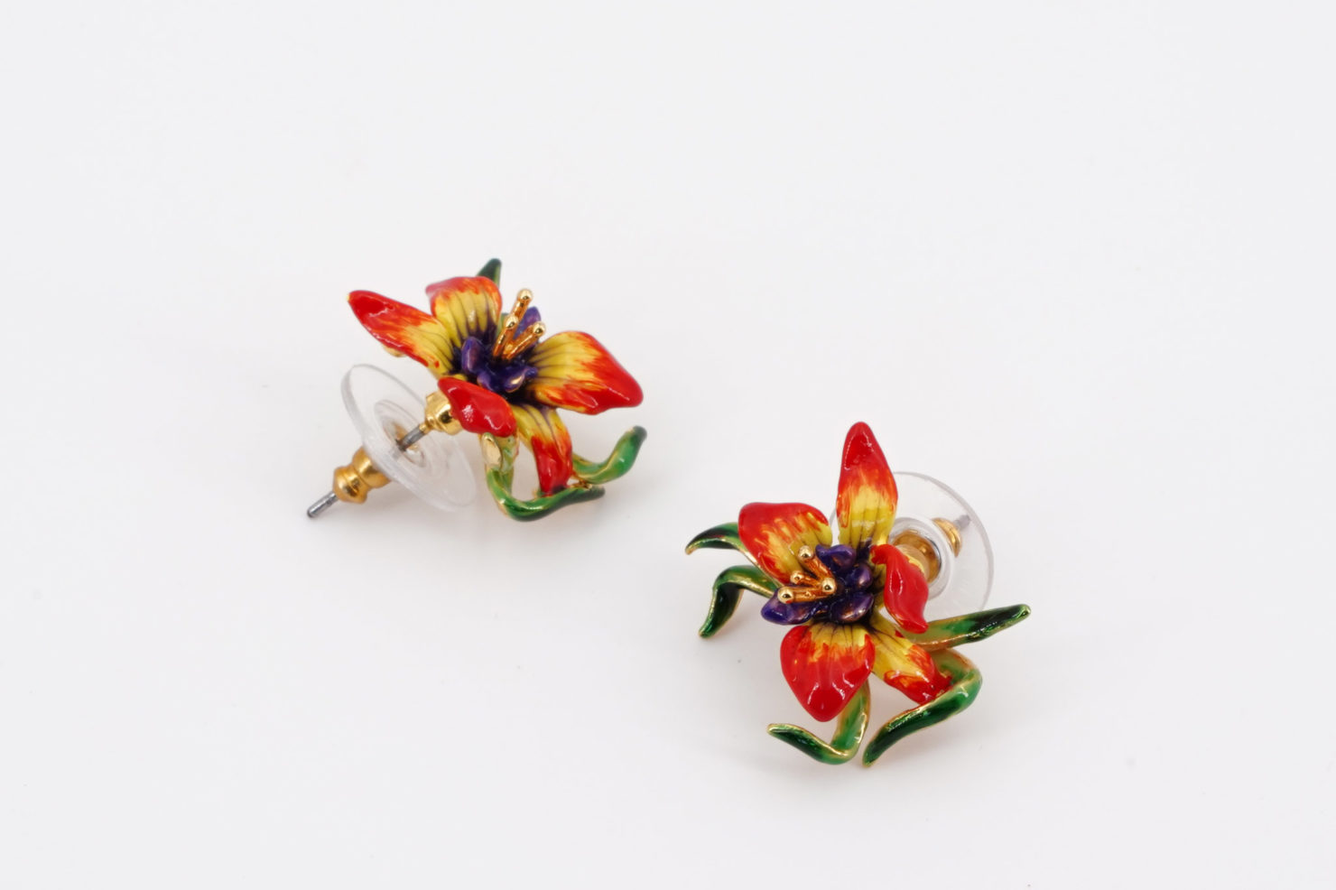 FLOWER EARRINGS FLORE MYSTERIEUSE COLLECTION LES NEREIDES