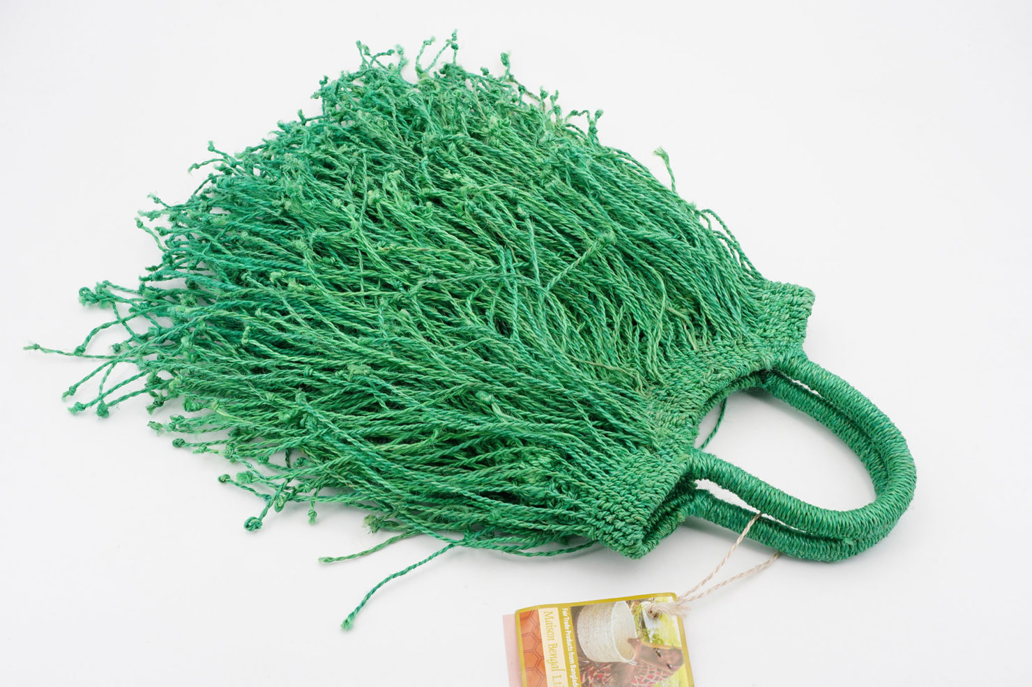 FRINGE BAG GREEN MAISON BENGAL