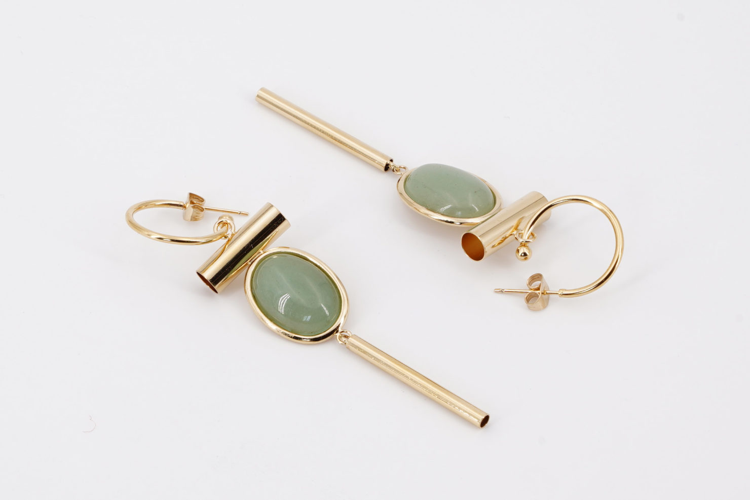 MUMBAI EARRINGS MAXI GREEN (AVENTURINE) MEDICINE DOUCE