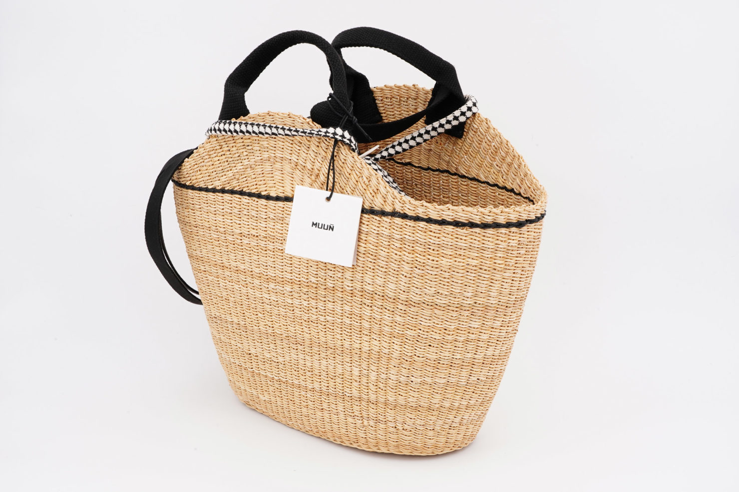 NATH DELFT STRAW BAG WITH REMOVABLE POUCH MUUN