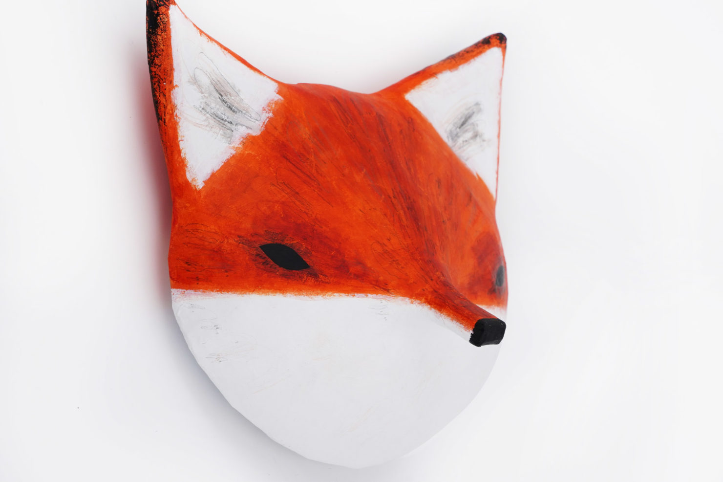 PAPER MACHE SCULPTURE FOX ABIGAIL BROWN