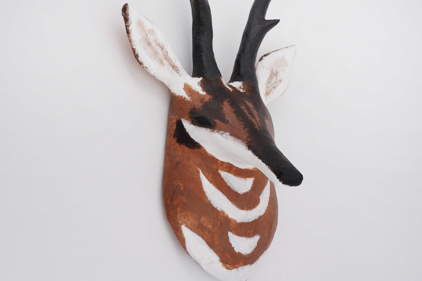 PAPER MACHE SCULPTURE PRONGHORN ABIGAIL BROWN