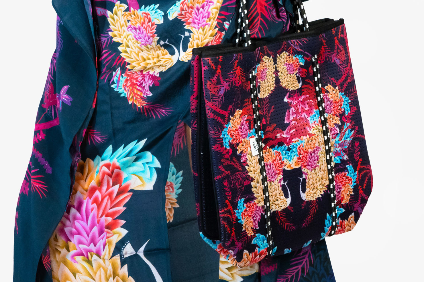 REVERSIBLE TOTE SINGAPORE NIGHT- LIBBY WATKINS