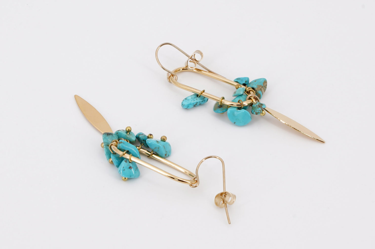 SANTORIN EARRINGS BLUE MEDICINE DOUCE