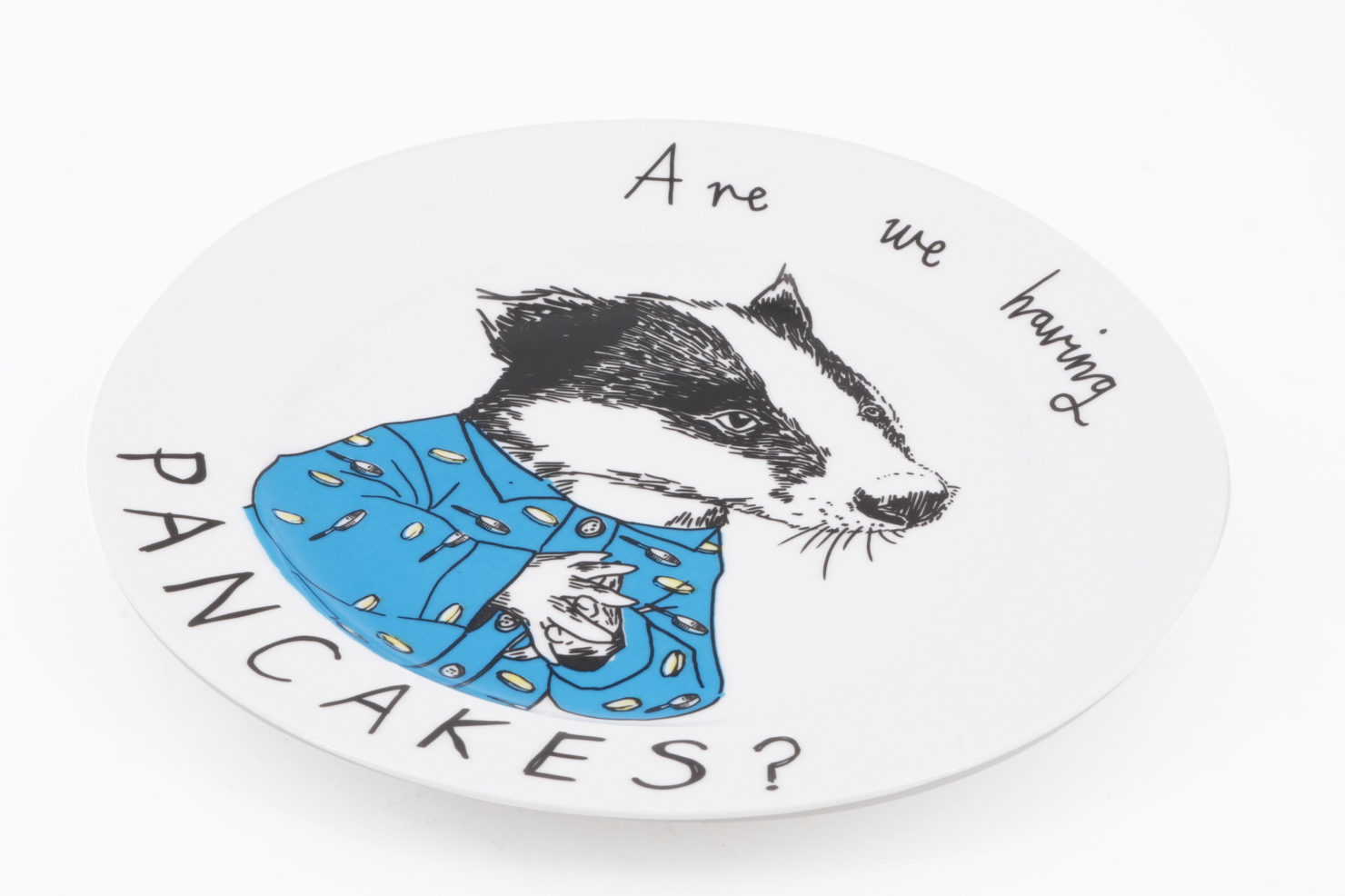 BADGER PANCAKES SIDE PLATE - JIMBOBART