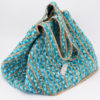 BAG JUTE NATURE/TURQUOISE - BY ROOM