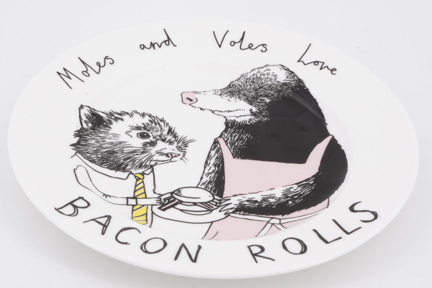 MOLES AND VOLES SIDE PLATE - JIMBOBART