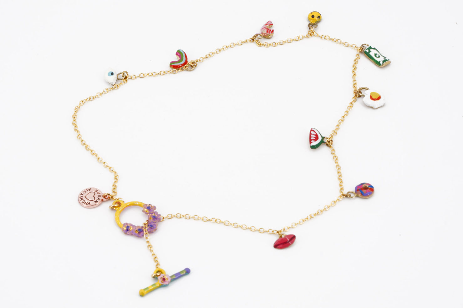 TIINY JOYS 9 CHARMS NECKLACE - SUSAN ALEXANDRA