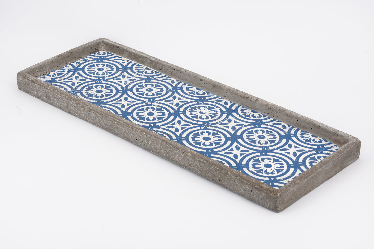 TRAY BLUE CONCRETE 49X18X2,5 CM - BY ROOM