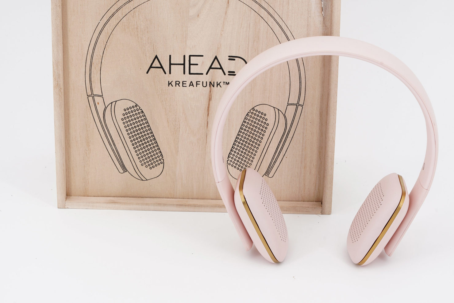 A-HEAD BLUETOOTH SPEAKER HEADPHONES ROSE - KREAFUNK