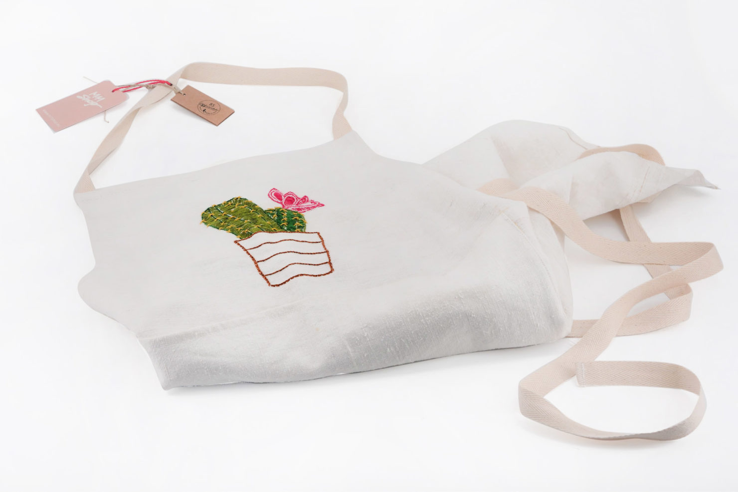 BROIDERED APRON CACTUS- OFFICINA 85