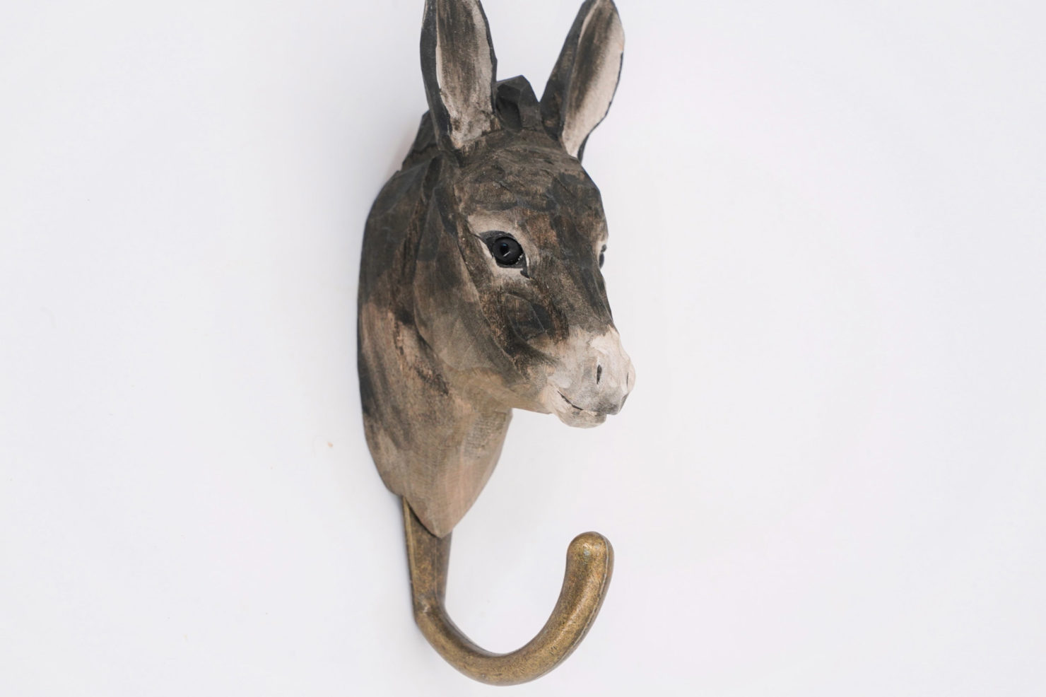 HAMDCARVED HOOK DONKEY - WILDLIFE GARDEN