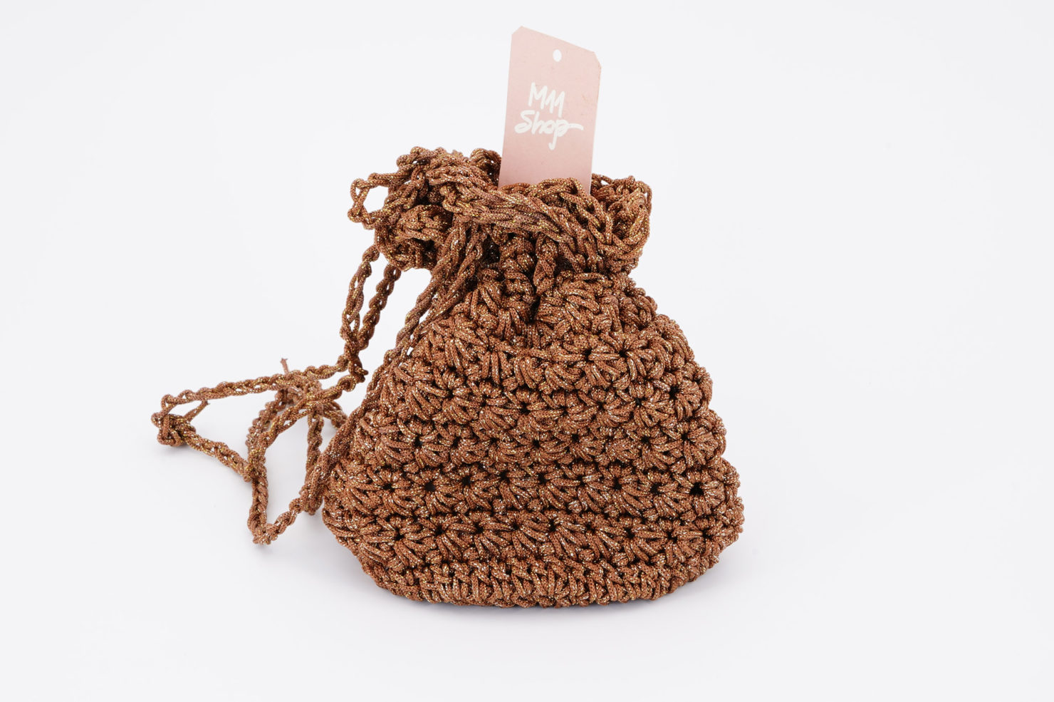 HAND MADE CROCHETED POCHETTE GOLD