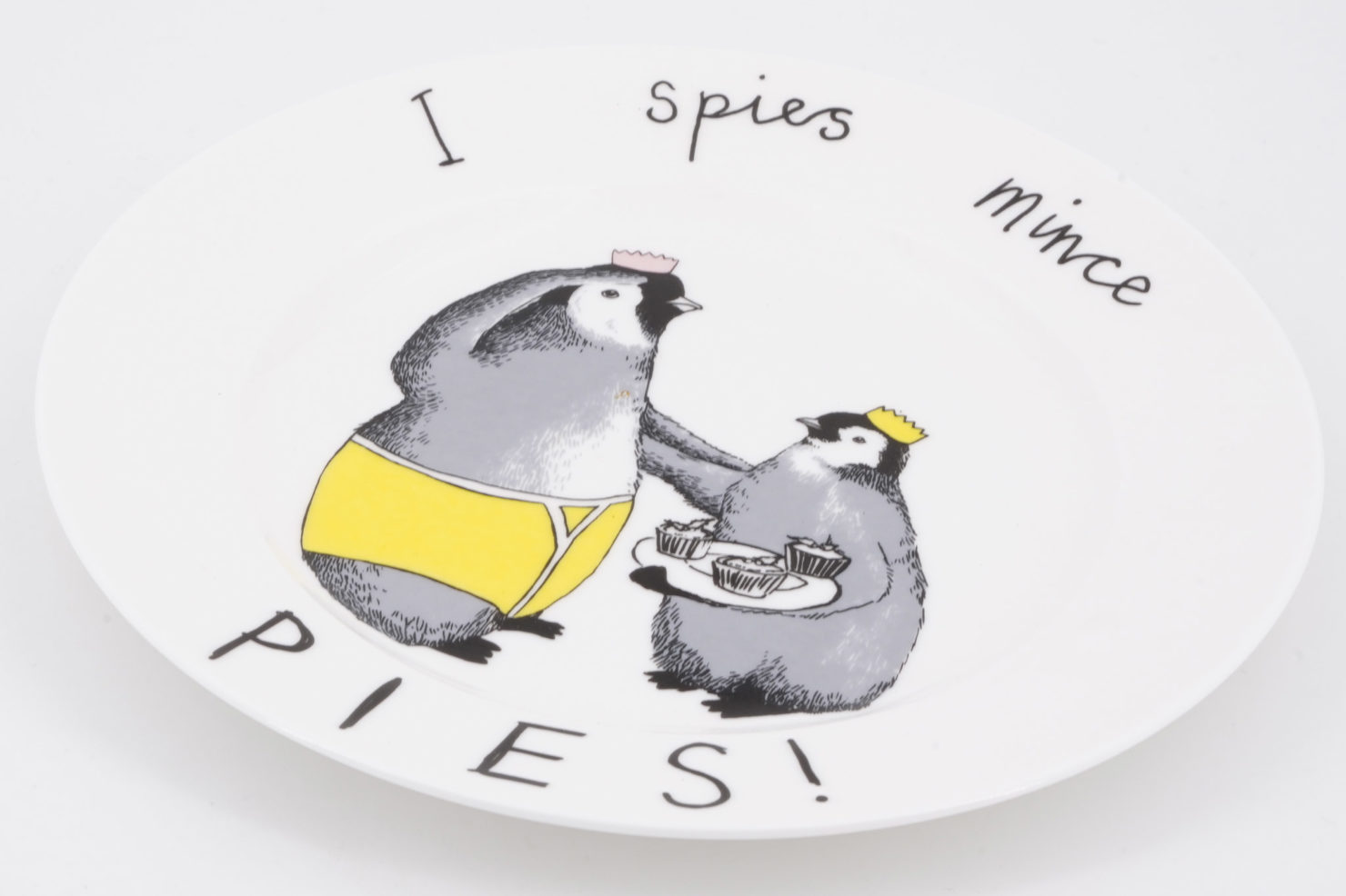 I SPIES MINCE PIES SIDE PLATE - JIMBOBART