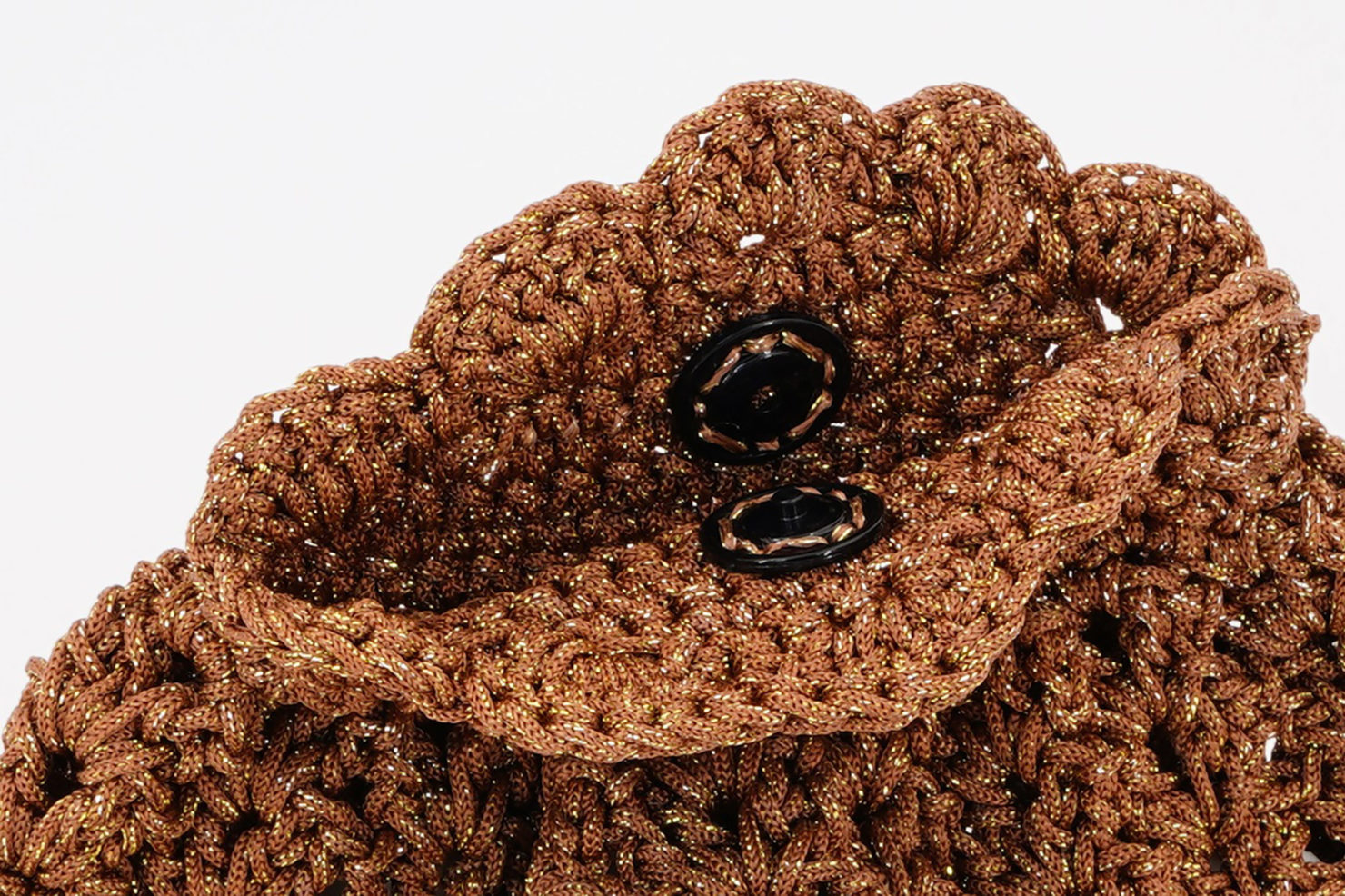 HAND MADE CROCHETED POCHETTE LUREX PARTICULAR