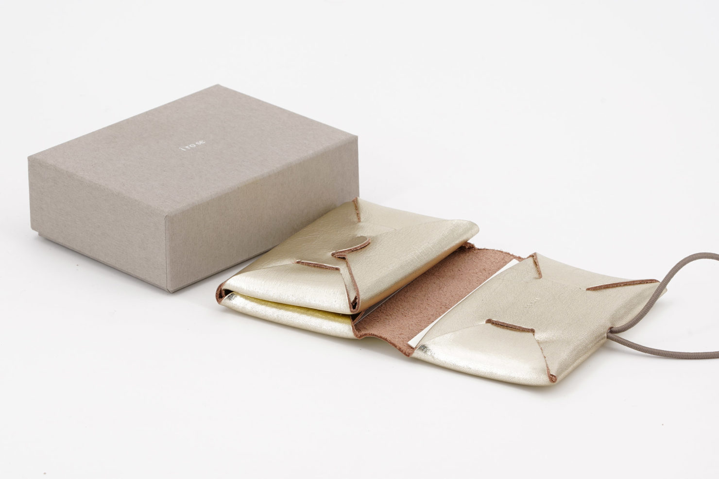 SEAMLESS MINI WALLET SILVER BOX I ROSE