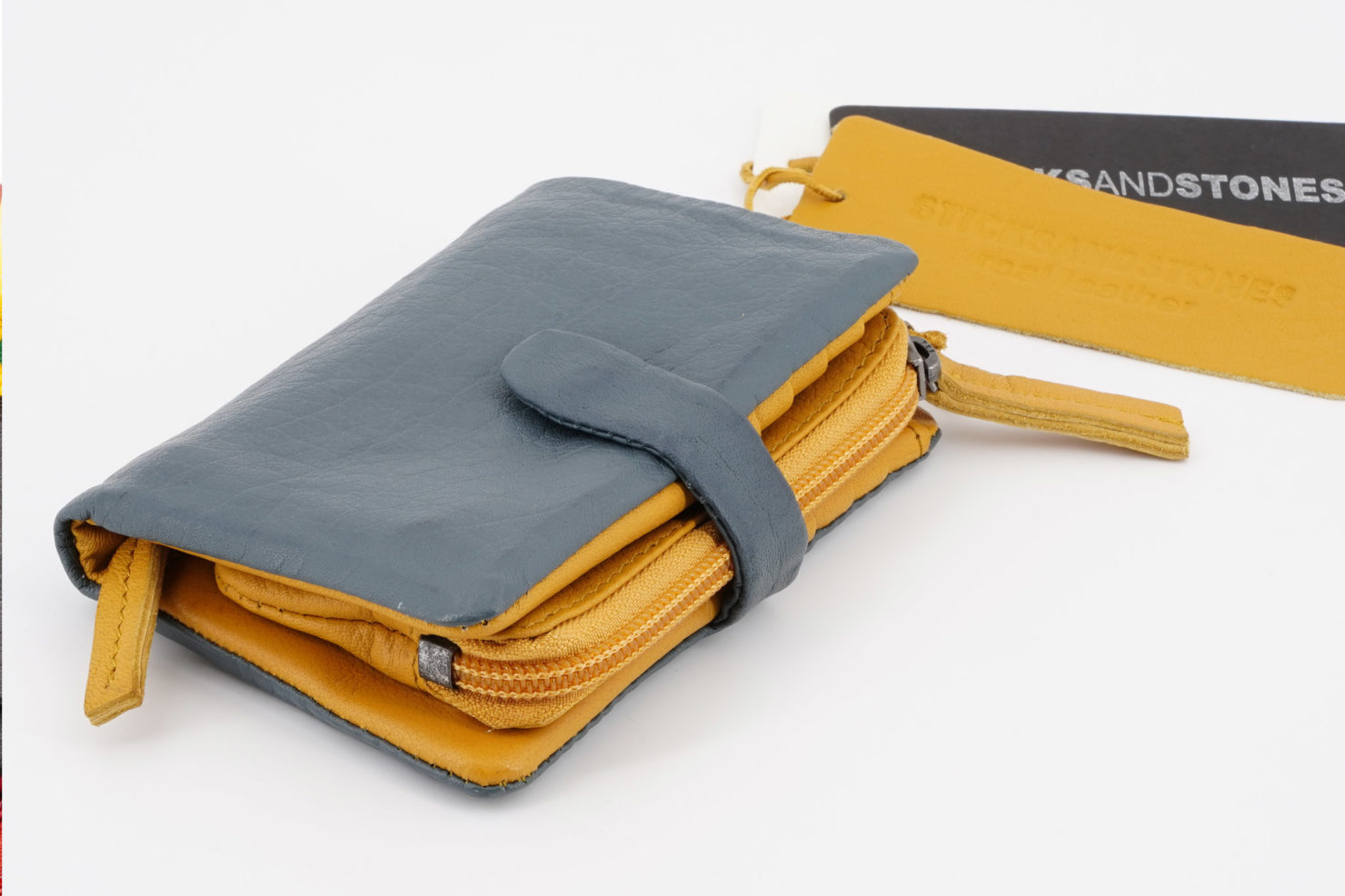 LAGUNA WALLET - BUFF WASHED DARK SLATE- STICKSANDSTONES