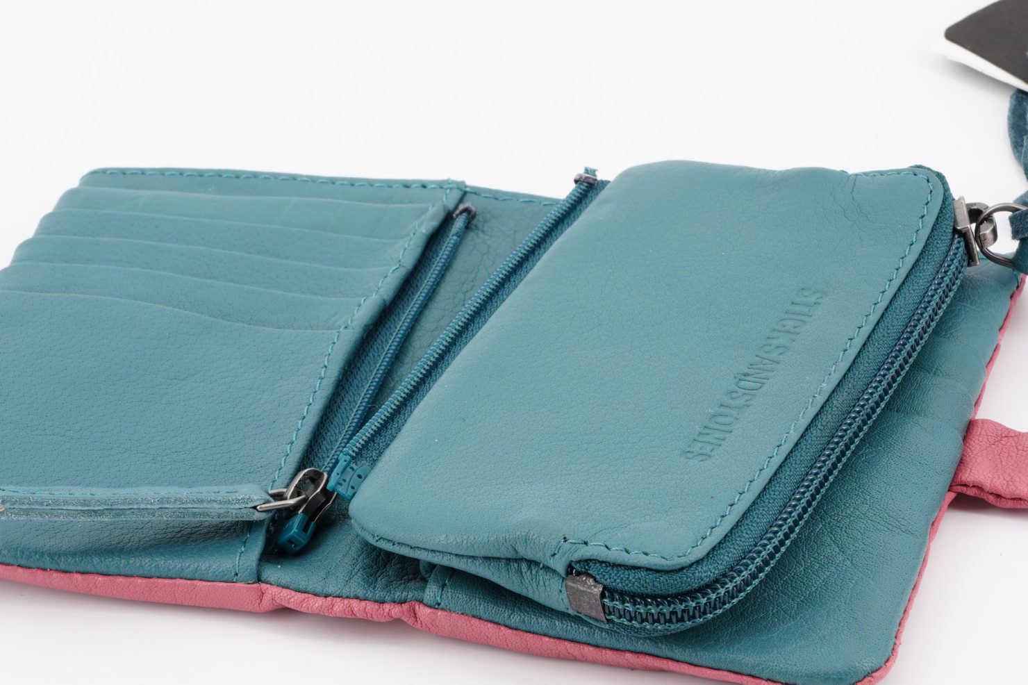 LAGUNA WALLET - BUFF WASHED MILLENIUM PINK OPEN - STICKSANDSTONES