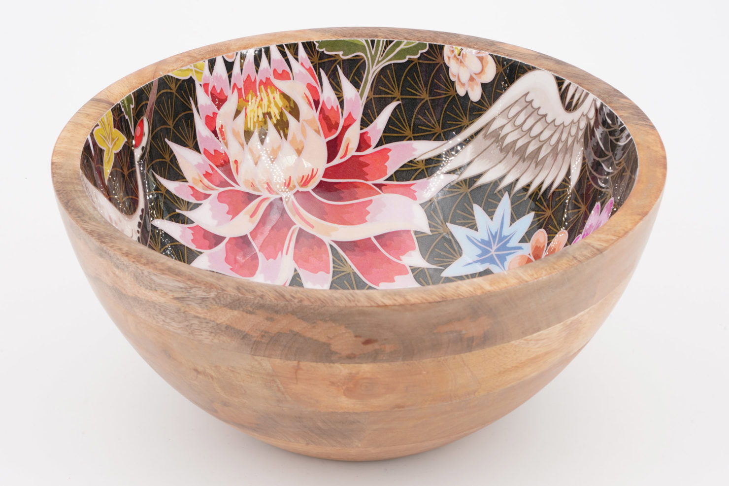 BOWL LOTUS/CRANE MANGO WOOD 25 CM - BY ROOM