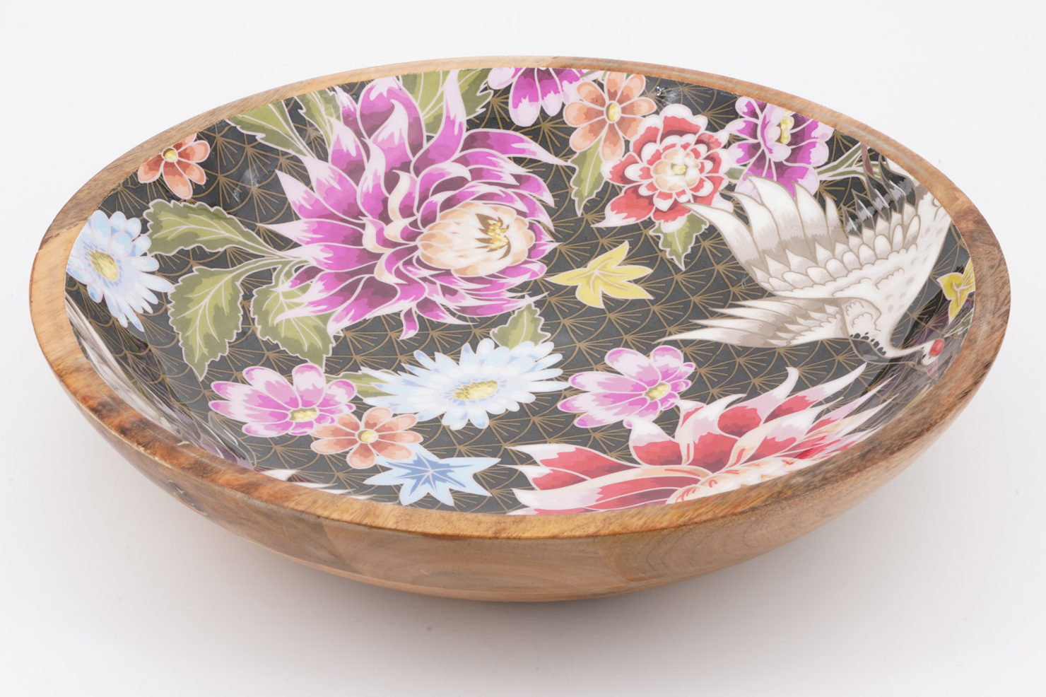 BOWL LOTUS/CRANE MANGO WOOD 38 CM - BY ROOM
