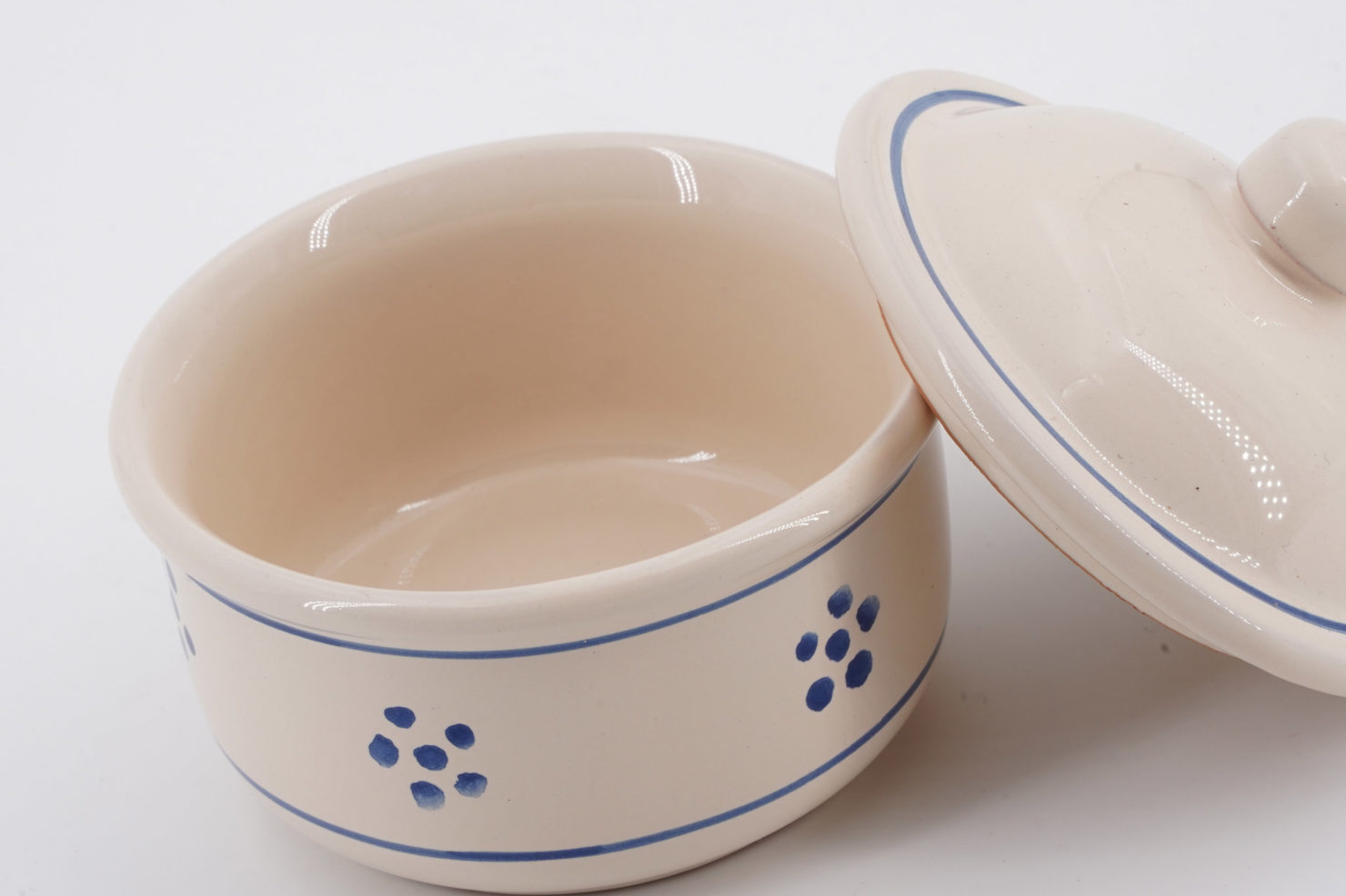 CERAMIC VARNISH CHEESE BOWL BEIGE DECORATED WITH STARS-DIAM.9 CM OPEN - FRATELLI COLI