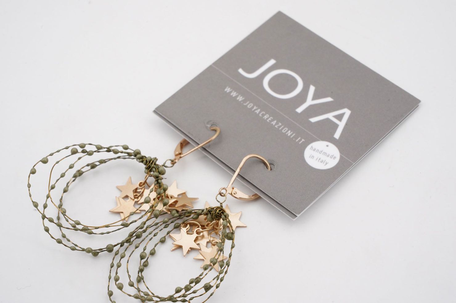 EARRINGS WITH STARS GREEN - JOYA