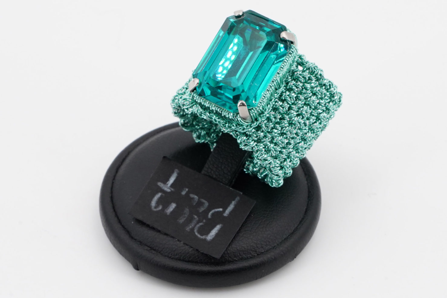 GREEN BAND + EMERALD CRISTAL RING - TMD BIJOUX