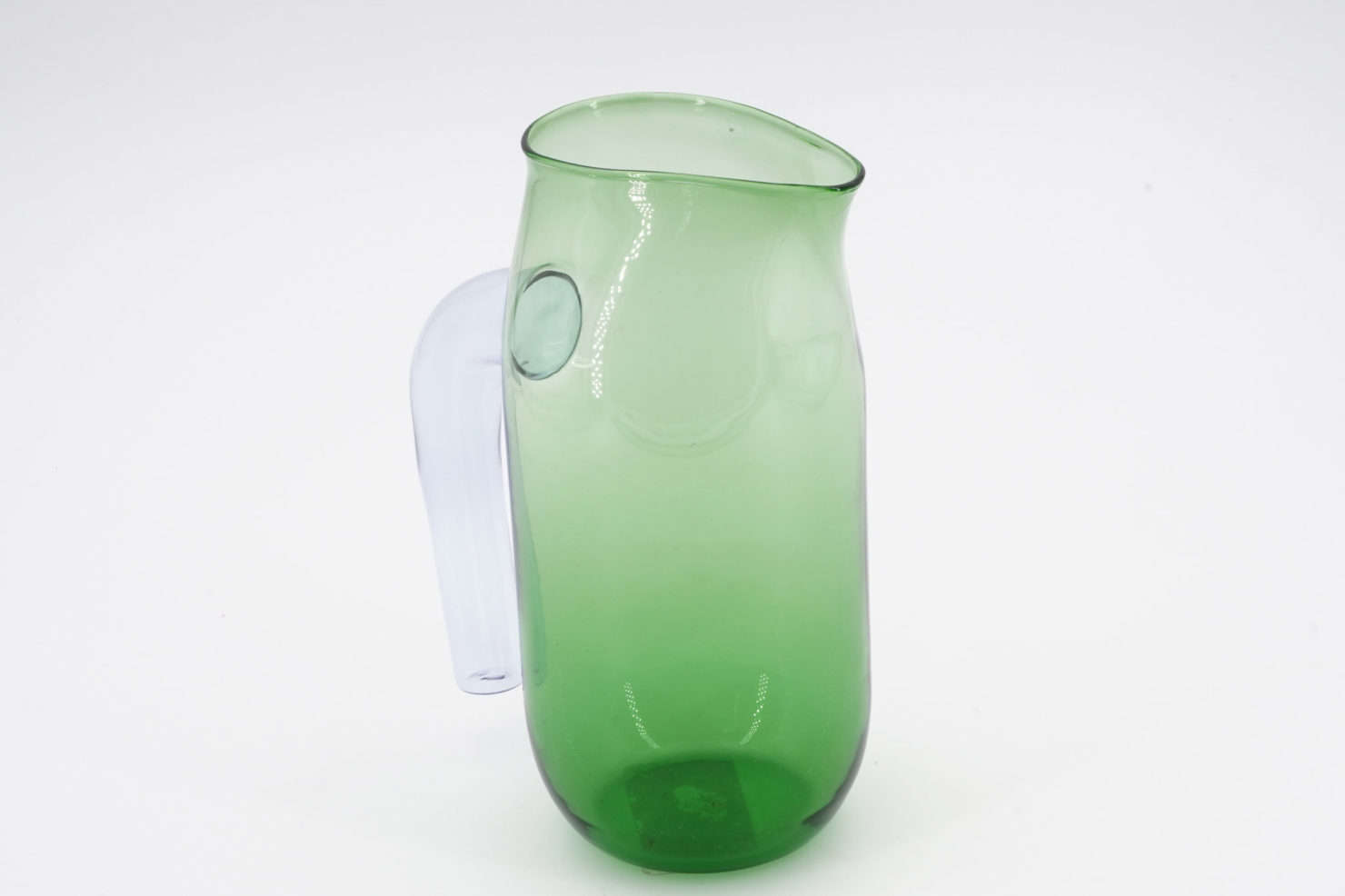GREEN GLASS JUG - HAY