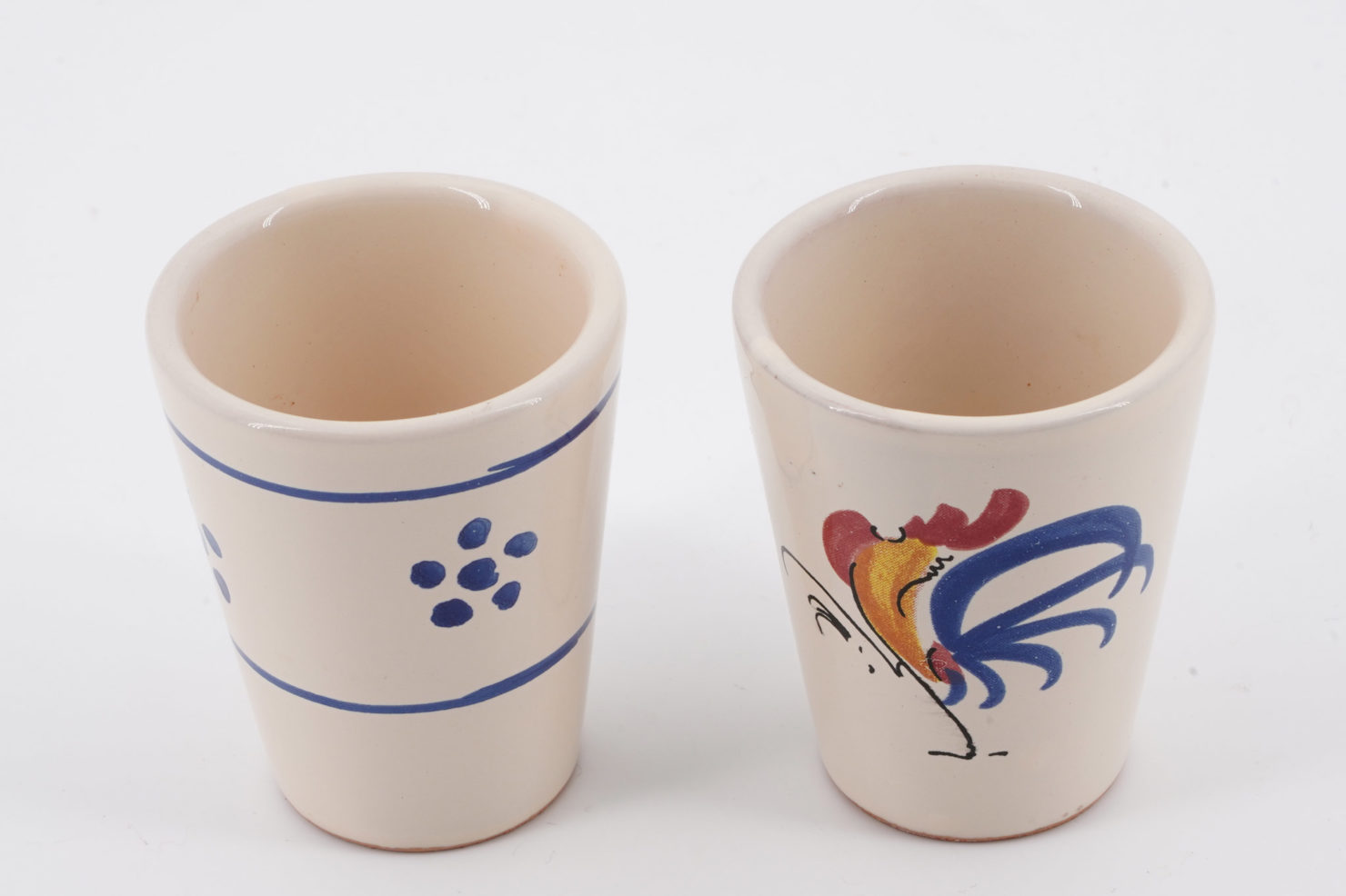 HANDPAINTED CERAMIC VARNISH SMALL GLASS WITH STARS SUGGESTED FOR LIMONCELLO DRINK FRATELLI COLI