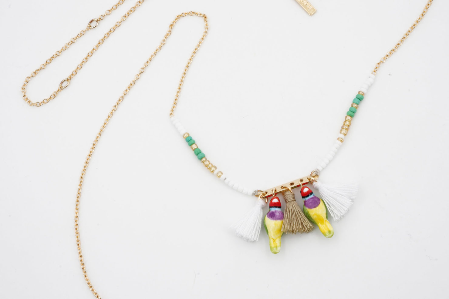 MINI GOULDIAN FINCH BIRDS MULTI NECKLACE - NACH