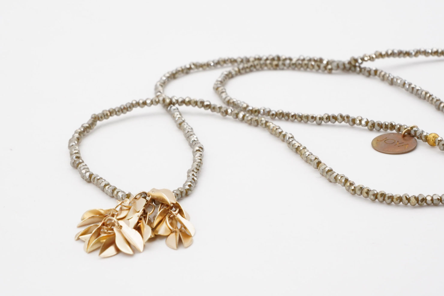 NECKLACE WITH LEAVES GREEN - JOYA