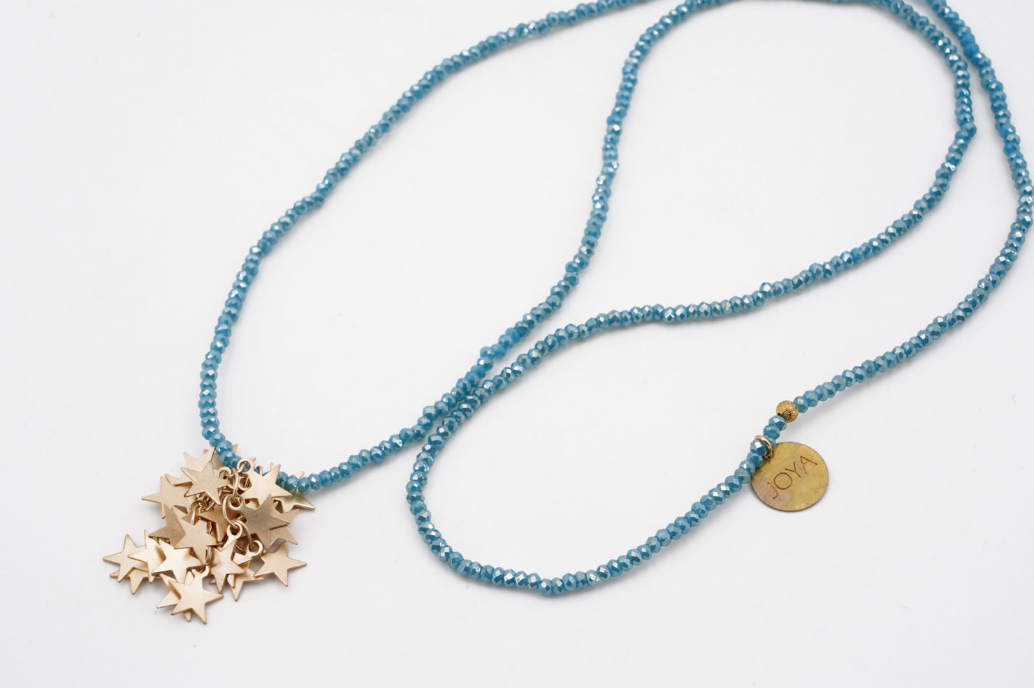 NECKLACE WITH STARS TURQUOISE - JOYA