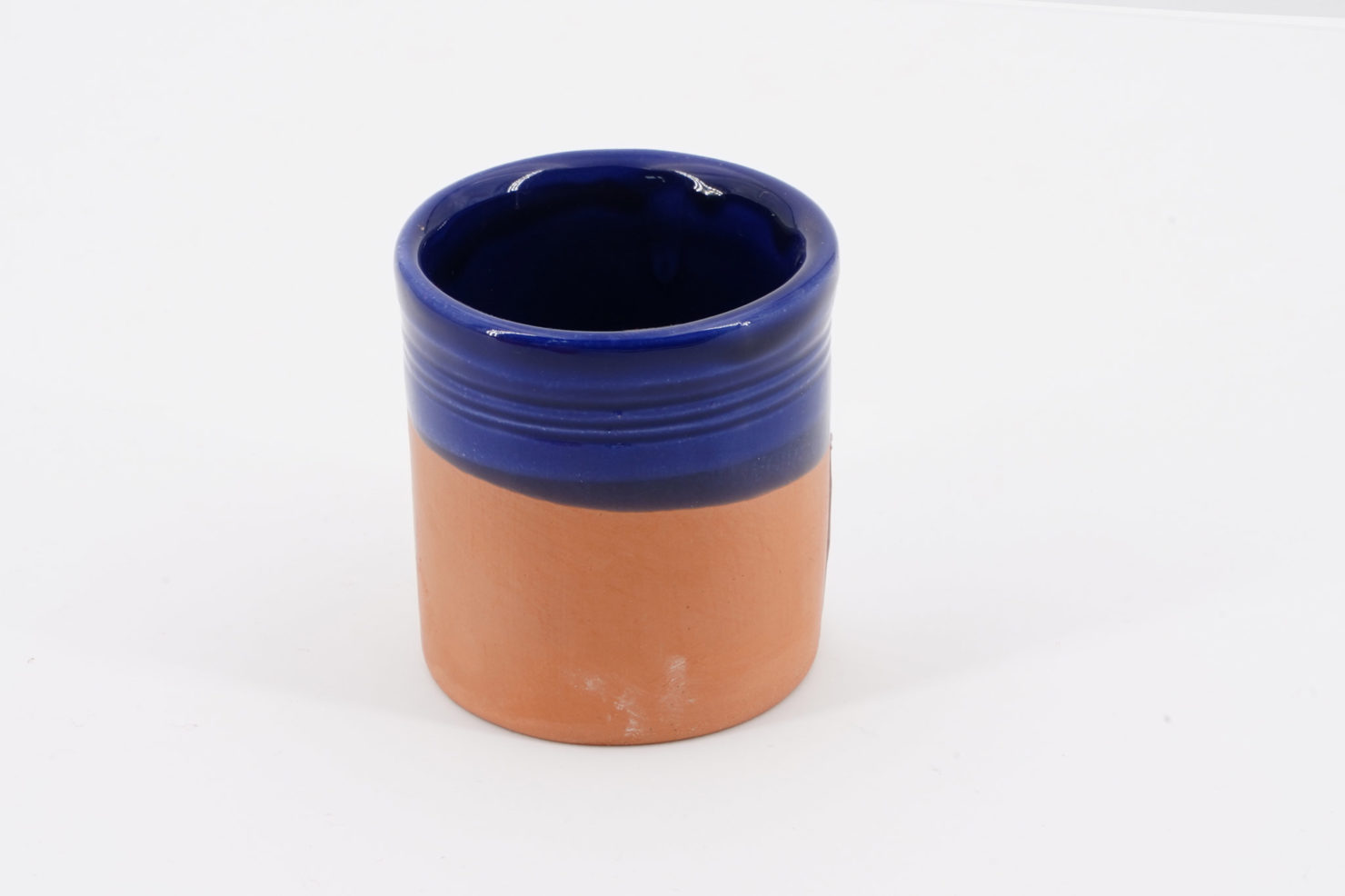 SMALL CERAMIC GLASS - FASANO CERAMICHE BLUE