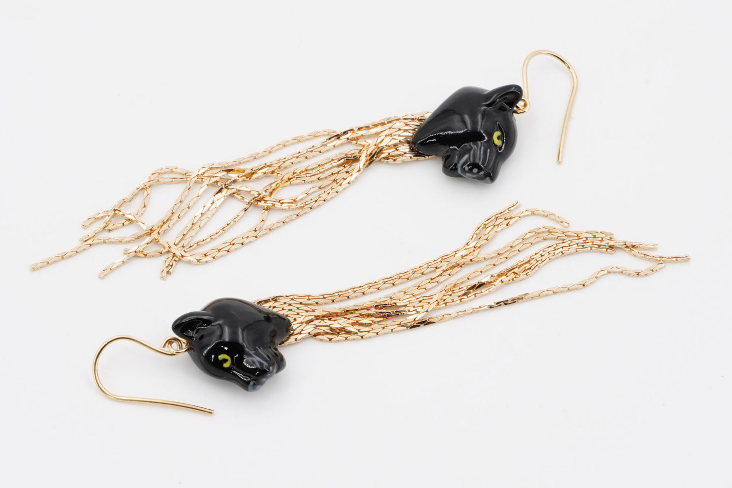 BLACK PANTHER FRINGE EARRINGS - NACH