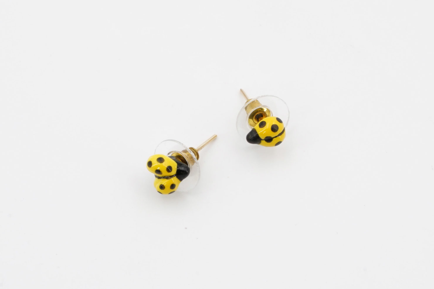MINI YELLOW LADYBUG EARRINGS - NACH