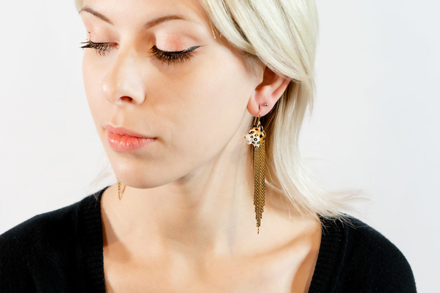 TIGER FRINGE EARRINGS – NACH