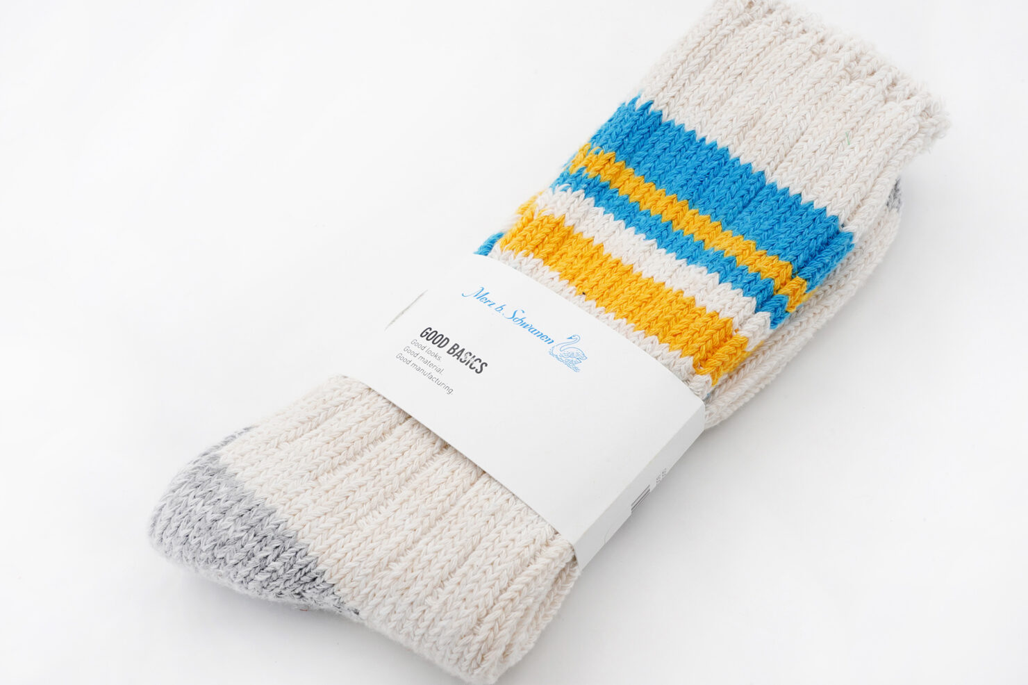 GOOD BASICS SOCKS NATURE/SKY - MERZ B. SCHWANEN
