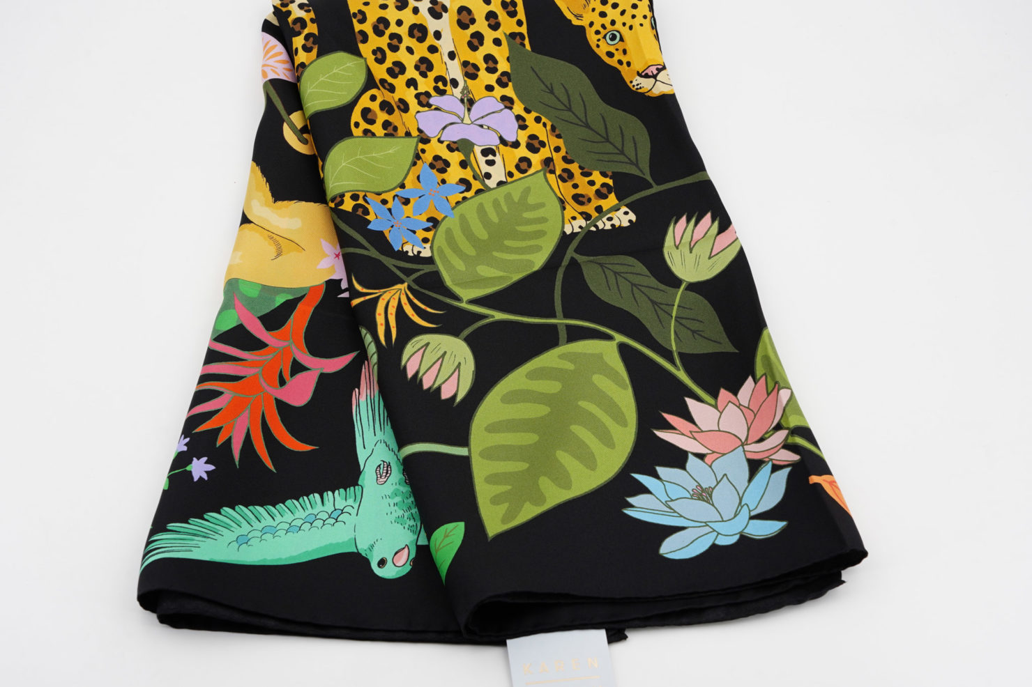 RAINFOREST SILK SCARF 90X90 CM - KAREN MABON