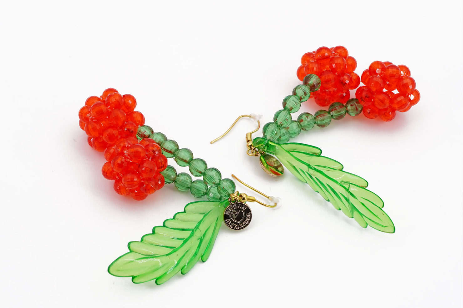 LOLITA EARRINGS - BEADED CHERRY EARRINGS - SUSAN ALEXANDRA