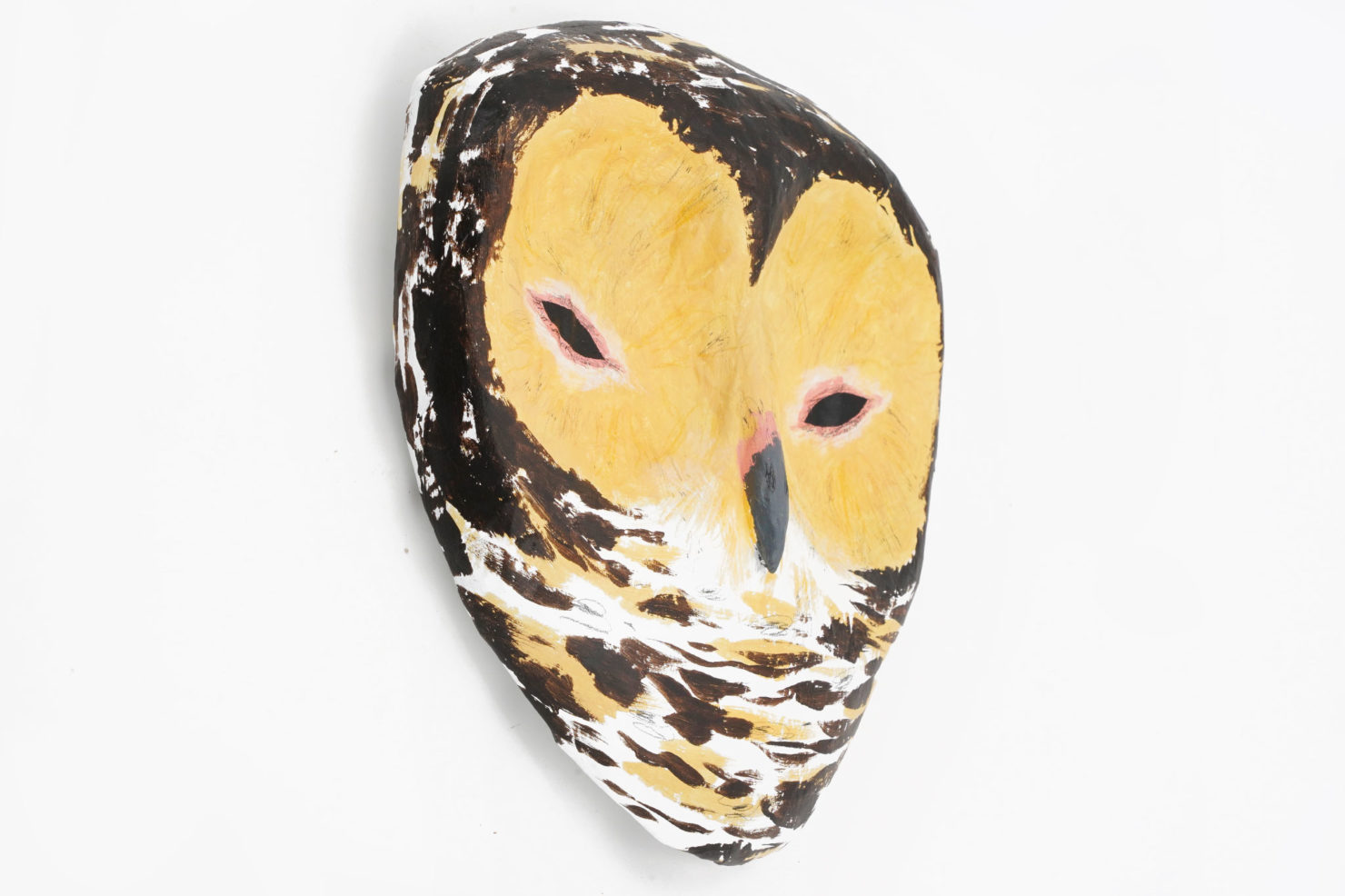 PAPER MACHE SCULPTURE-SPOTTED WOOD OWL – ABIGAIL BROWN