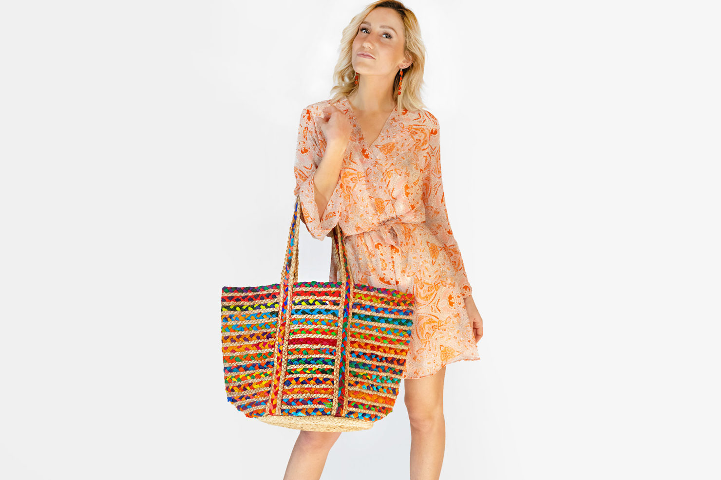 BAG JUTE MULTICOLOR-BY ROOM FT. MARGARET BLAME